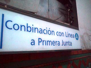 Conbinación linea A